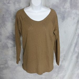 J. Crew olive green long sleeve top